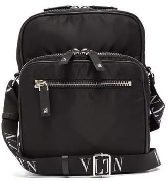 bd2e994ea91 Valentino Vltn Technical Canvas Messenger Bag - Mens - Black