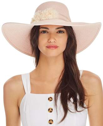 August Hat Company Floral-Trim Floppy Hat