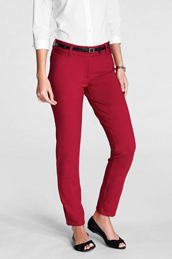 Lands' End Women's Regular Fit 2 Ponté Ankle Pants