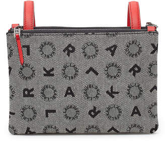 Karl Lagerfeld Paris K/Jacquard Crossbody Bag with Leather