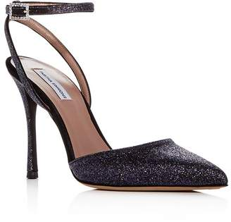 Tabitha Simmons Women's Elvin Glitter Ankle Strap Pointed Toe Pumps