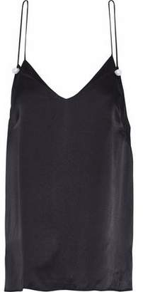 CAMI NYC The Lola Faux Pearl-Embellished Silk-Charmeuse Camisole