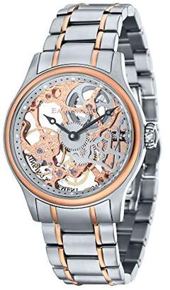 Thomas Laboratories Earnshaw Men's Bauer MACHANICAL Skeleton Mechanical-Hand-Wind Watch with Stainless-Steel Strap
