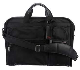 Tumi Leather-Trimmed Nylon Briefcase