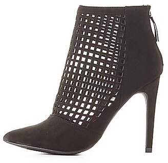 Perforated Pointed Toe Booties $38.99 thestylecure.com