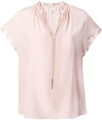 ad715106d81e0 MICHAEL Michael Kors eyelet detailed blouse