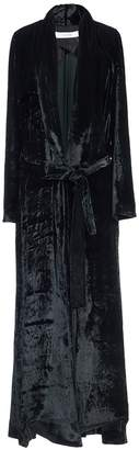 Galvan soft velvet belted coat