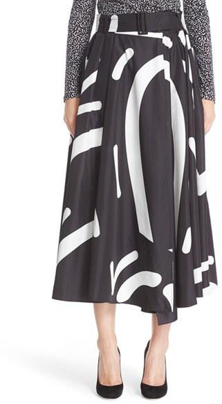 Max MaraWomen's Max Mara Ali Graphic Print Midi Skirt