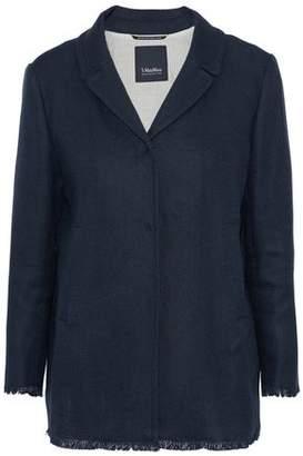 Max Mara Cottage Fringe-Trimmed Linen-Blend Piqué Jacket