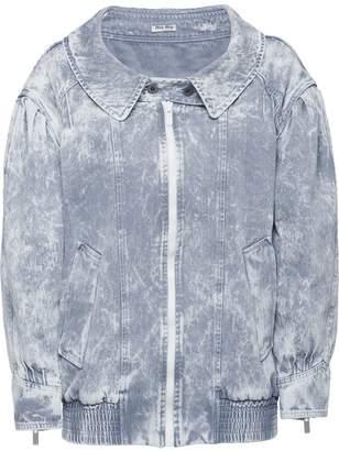 Miu Miu marbled effect denim jacket