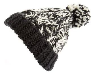 Women's Treasure&bond Stripe Knit Beanie - Black $35 thestylecure.com