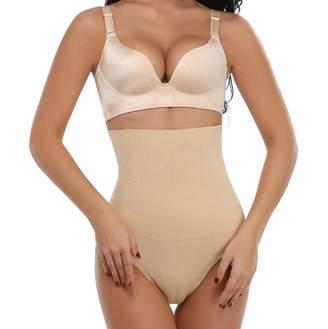 27934d1c9 SAYFUT Women s Hi-Waist Tummy Control Thong Panties Body Shaper Butt Boy  Short