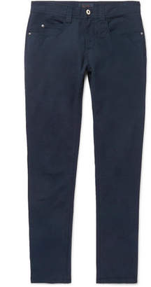 Loro Piana Slim-Fit Stretch-Cotton Trousers - Men - Navy