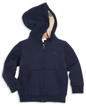 Burberry Little Boy's & Boy's Embroidered Fleece Hoodie $150 thestylecure.com
