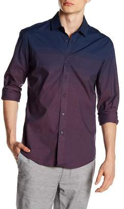 Vince Camuto Check Ombre Slim Fit Sport Shirt
