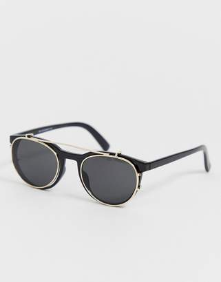New Look clip on lens sunglasses in black