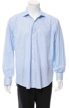 Balmain Striped French Cuff Shirt
