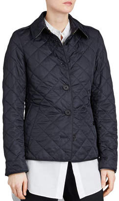 Burberry Frankby Quilted Jacket, Navy
