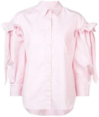 Simone Rocha striped frill sleeve shirt
