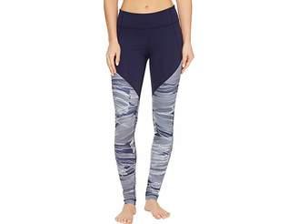 Under Armour Mirror Color Block Printed Leggings Women's Casual Pants