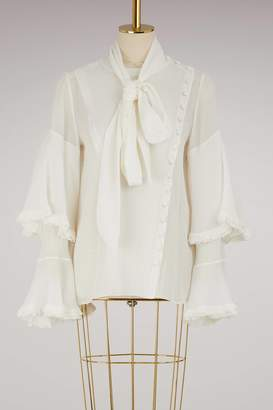 Chloé Silk ruffled shirt