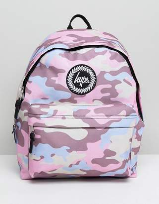 Hype Pink Camo Backpack
