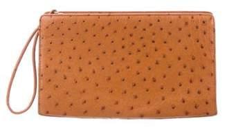 Cece Cord Ostrich Zip Clutch