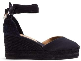 Castaner Carina Canvas Wedge Espadrilles - Womens - Navy