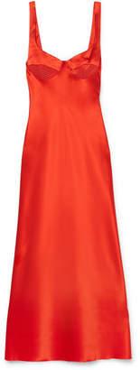 Dion Lee Silk-satin Midi Dress - Red
