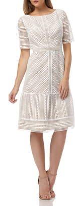 Kay Unger Lace Cocktail Dress