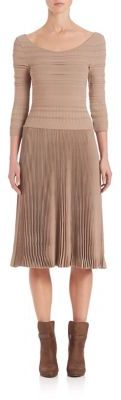 Ralph Lauren Collection Scoopneck Pleated Skirt Dress $2,590 thestylecure.com
