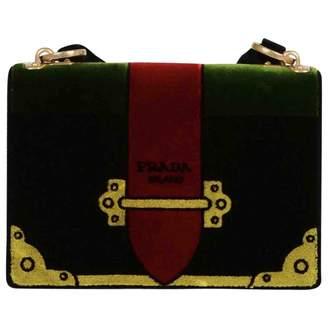 Prada Cahier Green Velvet Handbag