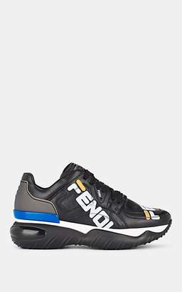 "Fendi Men's Mania"" Leather Sneakers - Black"