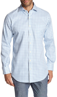 Peter Millar Nanoluxe Twill Tattersal Classic Fit Shirt $125 thestylecure.com