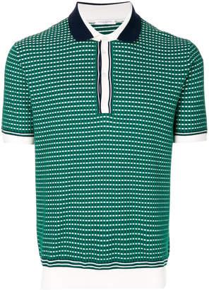 Paolo Pecora check patterned polo shirt