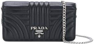 Prada logo quilted shoulder bag
