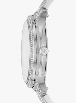 Michael Kors Runway Pave Silver-Tone Watch