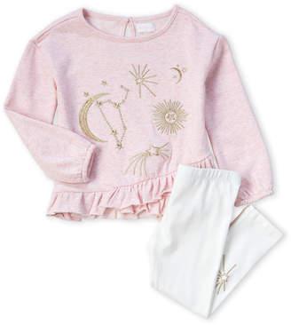 BCBGirls Girls 4-6x) Two-Piece Embroidered Top & Legging Set