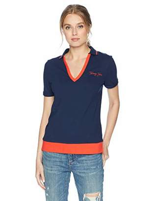 Tommy Hilfiger Tommy Jeans Women's Colorblock Relaxed Fit Polo Shirt