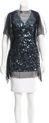 Vera Wang Silk Sequined Top $95 thestylecure.com