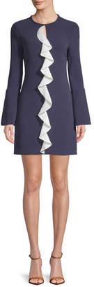 Rachel Zoe Monner Ruffle-Front Shift Dress