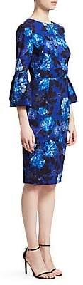 David Meister Women's Floral Bell-Sleeve Sheath Dress