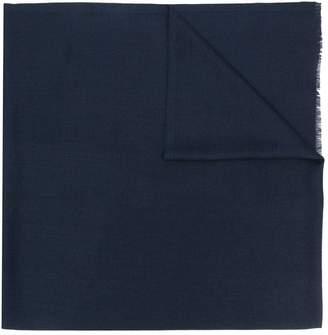 Alexander McQueen frayed logo scarf
