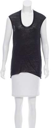 HELMUT Helmut Lang Cap Sleeve Scoop Neck T-Shirt