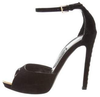 Tom Ford Suede Ankle-Strap Sandals