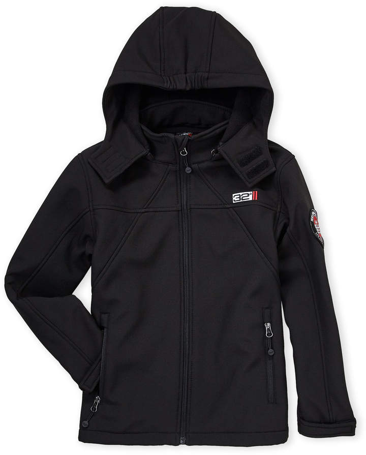 Weatherproof (Boys 8-20) Black Hooded Softshell Jacket