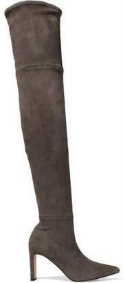 Sigerson Morrison Hye Stretch-Suede Thigh Boots