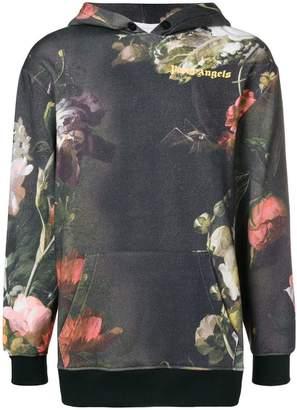 Palm Angels floral print hoodie