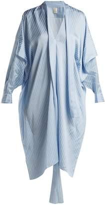 Maison Rabih Kayrouz Striped satin shirtdress