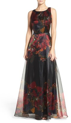 Women's Tahari Print Organza Gown $179 thestylecure.com